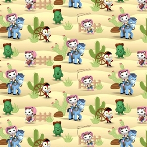 Disney Sheriff Callies Wild West Peck Toby Cotton Fabric