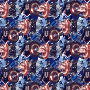 Picture of Marvel Captain America Power Packed Superhero Cotton Fabric