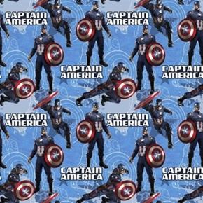 Marvel Captain America Star Superhero Cotton Fabric
