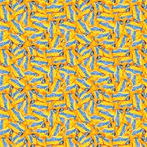 Nestle Fun Size Butterfinger Candy Packed Cotton Fabric
