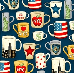 Nyc Mugs New York Coffee Mug Collection Cotton Fabric