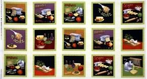 Picture of Al Dente Fresh Pasta Italian Food Blocks 24x44 Large Fabric Panel