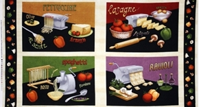 Picture of Al Dente Fresh Pasta Maker Italian Cuisine 24x44 Large Fabric Panel