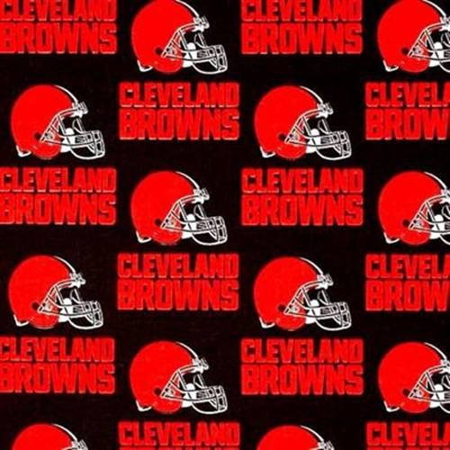 Nfl Football Cleveland Browns Horizontal Print 18X29 Cotton Fabric