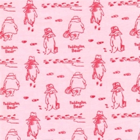 Paddington Bear Storybook Tonal Pink Cotton Fabric