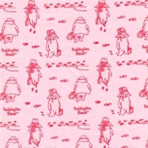Picture of Paddington Bear Storybook Tonal Pink Cotton Fabric