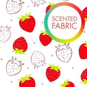 Picture of Scented Strawberries Celessence Strawberry Scented Cotton Fabric