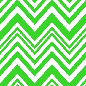 Neon On Chevrons Bright Green Chevron Cotton Fabric
