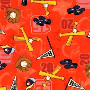 Picture of Short Stop Toss Baseball Equipment Orange Cotton Fabric
