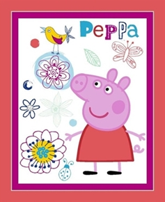 Picture of Peppa Pig Nickelodeon British Animated TV Large Cotton Fabric Panel