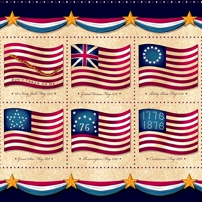 Long May She Wave American Flag History 24X44 Cotton Fabric Panel