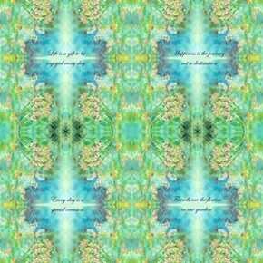 Kaleidoscope Inspirational Quotes Mirror Image 24X22 Cotton Fabric