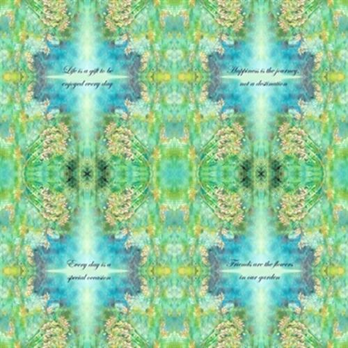 Kaleidoscope Inspirational Quotes Mirror Image 24X22 Cotton Fabric