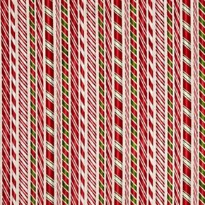 Picture of Holly Jolly Christmas 4 Peppermint Candy Stripe Cotton Fabric