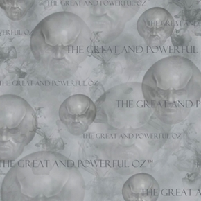 75 Years Of Wickedness The Great And Powerful Oz Grey Cotton Fabric
