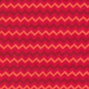 Quilting Basics Red Flame Chevron Tonal Pattern Cotton Fabric