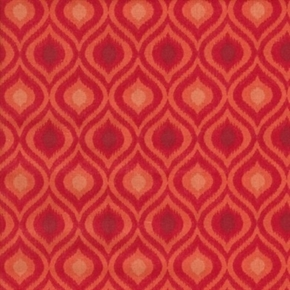 Picture of Quilting Basics Red Flame Ikat Tonal Pattern Cotton Fabric
