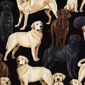 Labrador Retriever Dogs Yellow Brown And Black Labs Cotton Fabric