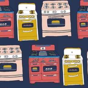 Picture of Bake Kitchen Stove Stoves and Ovens Cotton Fabric