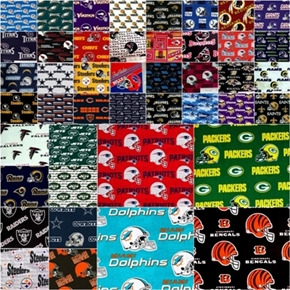 Picture of NFL Football Teams Fabric 4 Ounce Scrap Bag