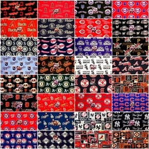Mlb Baseball Teams Fabric 4Oz Scrap Bag
