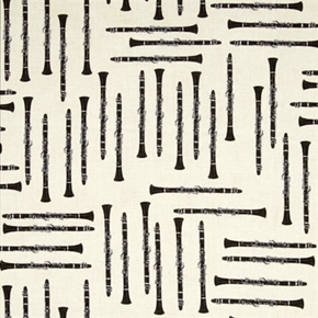 In Tune Clarinet Musical Instruments Clarinets On Cream Cotton Fabric