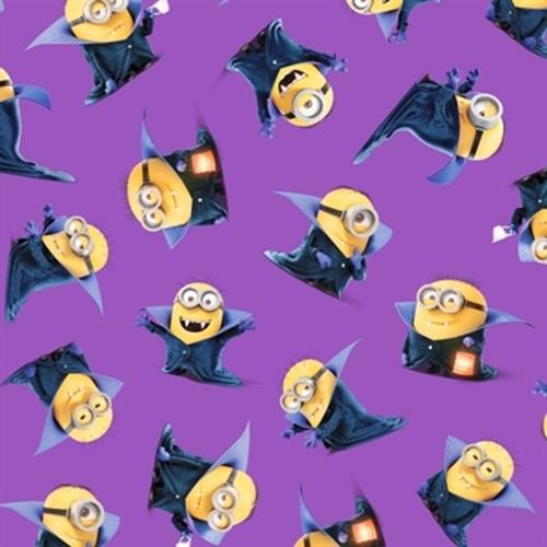 Despicable Me Bite Me Count Minions Purple Minion Cotton Fabric