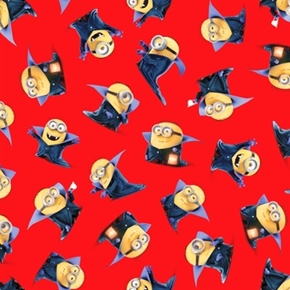 Despicable Me Bite Me Count Minions Red Minion Cotton Fabric