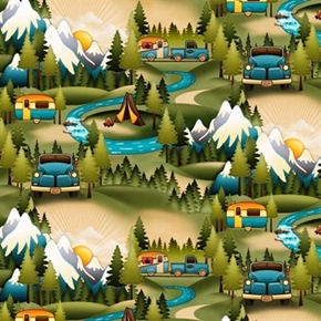 Outdoor Adventure Camping Scenic Camper Trailer Tents Cotton Fabric