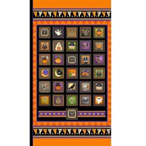Picture of Creepy Hollow Halloween Patch 24x44 Cotton Fabric Panel