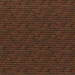 Picture of Danscapes Architectural Small Red Bricks Brick Wall Cotton Fabric