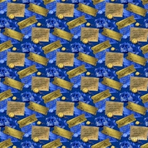 The Polar Express Ticket And Bell Storybook Movie Cotton Fabric