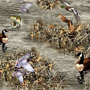 Picture of Realtree Hunting Ducks Geese Fish Allover Cotton Fabric