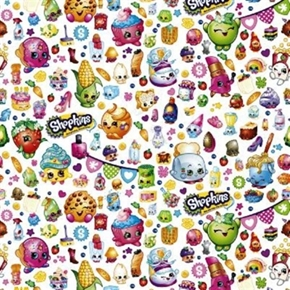 Picture of Shopkins Grocery Shop Toys Packed Shopkins Party Cotton Fabric
