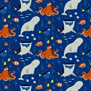 Disney Finding Dory And Friends Hank Bailey Destiny Cotton Fabric