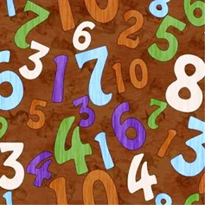 So Many Bunnies Numbers Scattered On Brown Rabbits Cotton Fabric