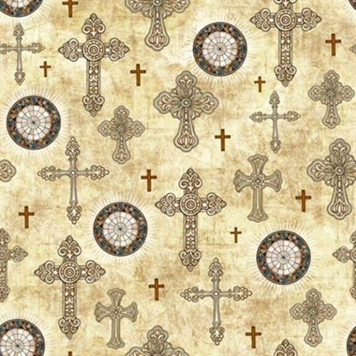 Cotton fabric religious fabric heavenly decorative for Celestial fleece fabric