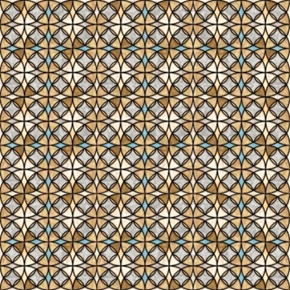 Heavenly Religious Church Stained Glass Tan Cotton Fabric
