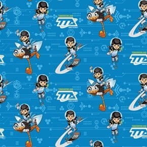Disney Miles From Tomorrowland Miles Power Tta Blue Cotton Fabric