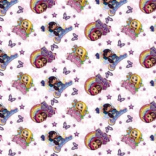 Little Charmer Nickelodeon Hazel Posie Lavender Friends Cotton Fabric