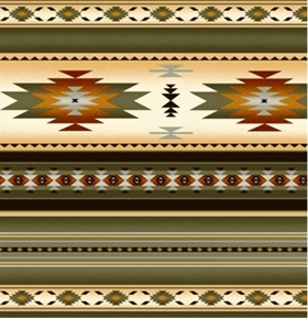 Tucson Southwest Aztec Native American Sage Stripe Cotton Fabric