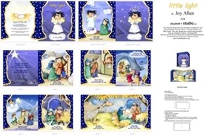 Little Light Childrens Nativity Story Cotton Fabric Book Craft