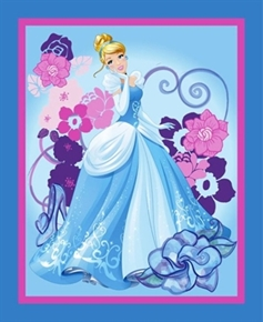 Disney Cinderella Princess Movie Large Cotton Fabric Panel