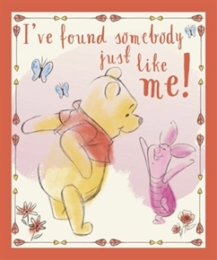 Disney Winnie The Pooh Found Somebody Like Me Cotton Fabric Panel
