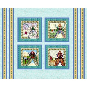 Angels Jim Shore Angel Blocks Cotton Fabric Pillow Panel Set