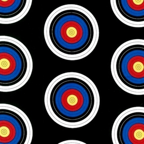 Sports Life 3 Archery Target Shooting Targets Black Cotton Fabric