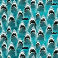 Picture of Classic Jaws Great White Shark Movie Universal Studios Cotton Fabric