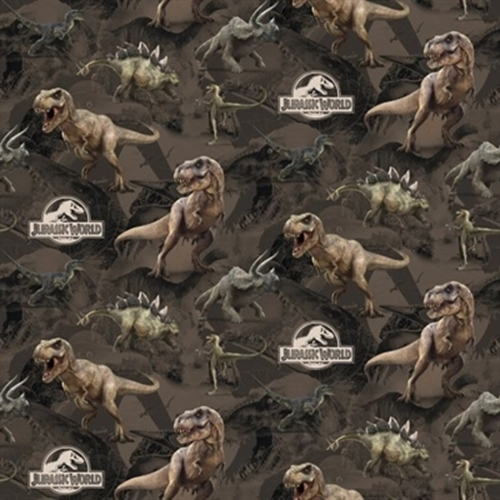 Dinosaur Terrain Jurassic World Large Dinosaurs Movie Cotton Fabric