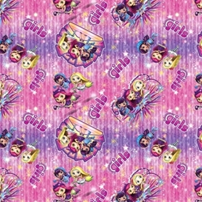 Little Charmer Nickelodeon Girl Badge Toss Hazel Posie Cotton Fabric