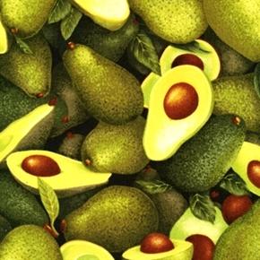 Picture of Farmer John's Garden Avocado Vegetable Sliced Avocados Cotton Fabric